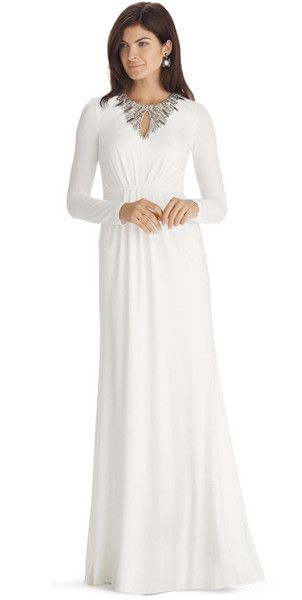 Modest white gown with long sleeves | Mode-sty #nolayering