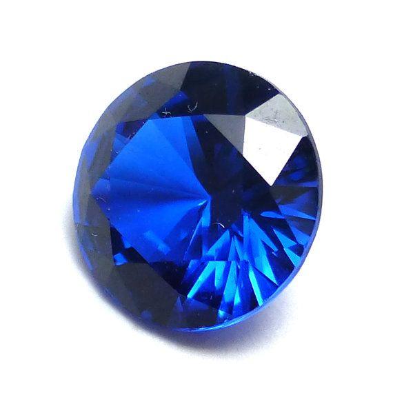 Blue Sapphire Brilliant Cut Loose Gemstone 8mm Round by saxdsign
