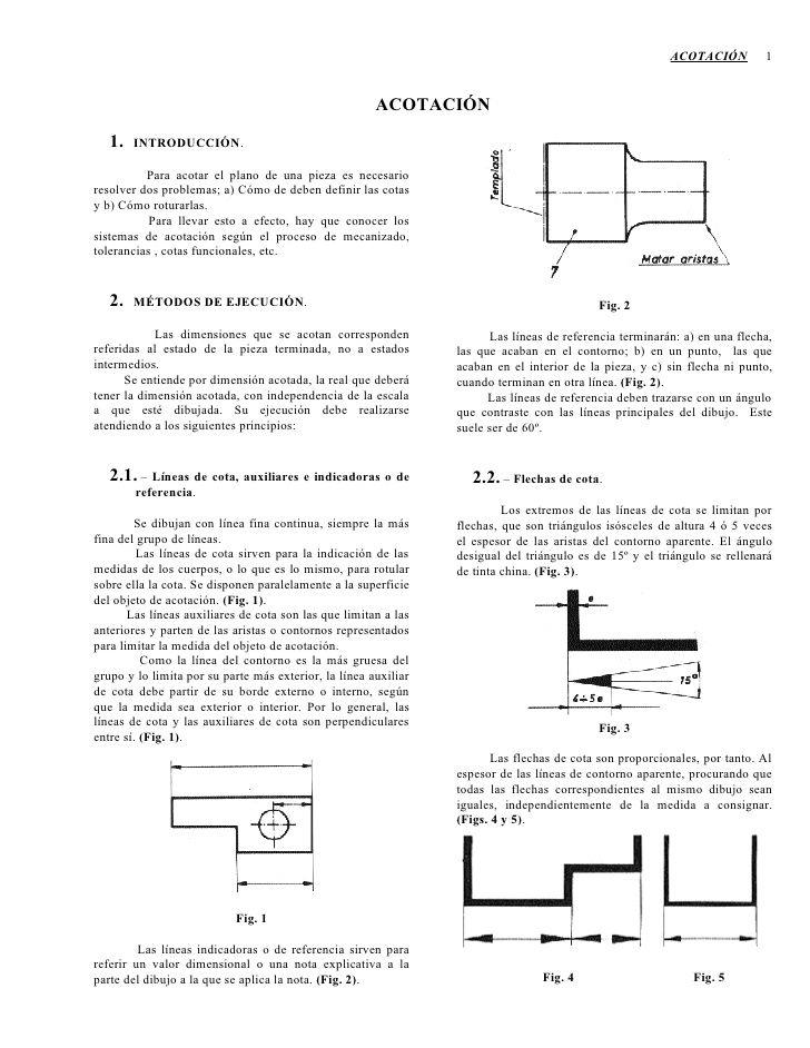 Apuntes De Acotacion Apuntes Planos Tecnicas De Dibujo