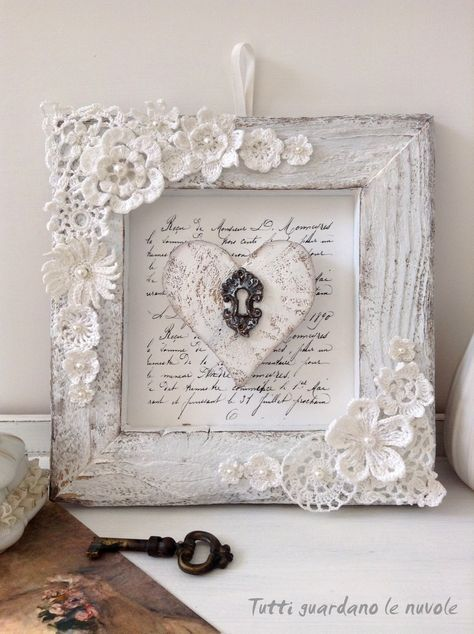 romantic shabby chic frame valentines pinterest. Black Bedroom Furniture Sets. Home Design Ideas