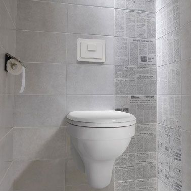 Le carrelage wc se met la couleur pour faire la d co deco and met - Deco wc modern ...
