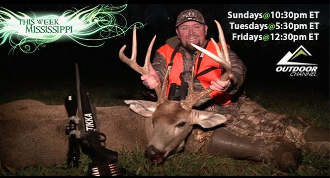 T-Bone is puttin' the hammer down on some Mississippi whitetails on an all new episode of ‪#‎BoneCollector‬ tonight at 5:30pm ET only on the Outdoor Channel. T-Bone Outdoors with Travis Turner