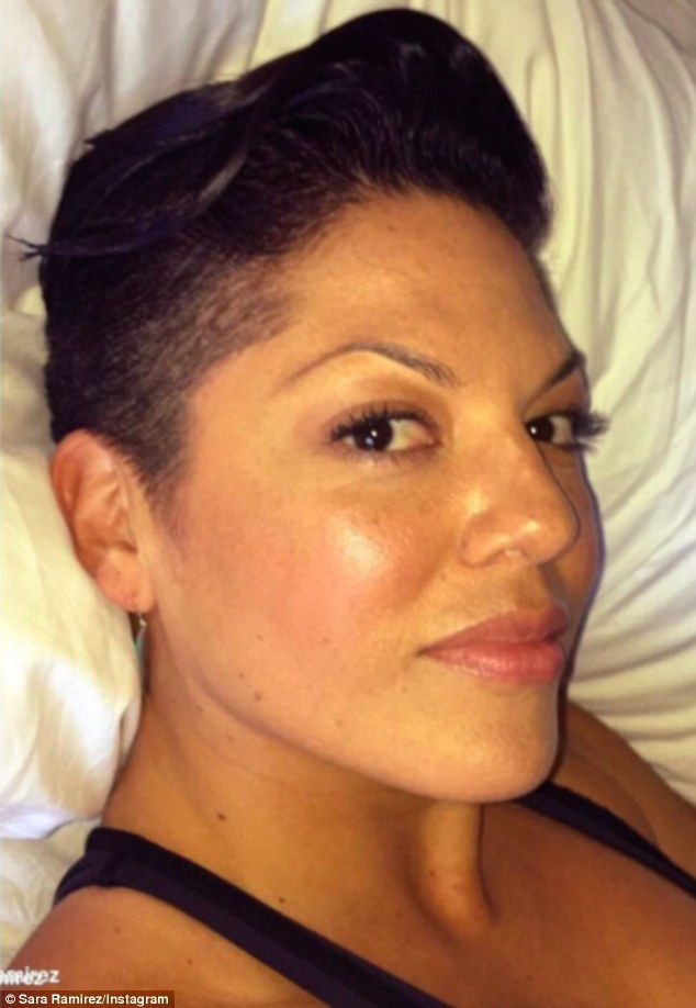 Wow: Sara Ramirez showed off her buzz cut this week on Instagram in a…