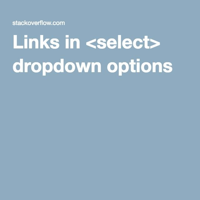 Links in <select> dropdown options