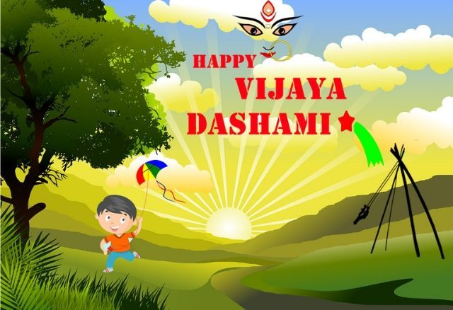 Happy Dashain Card Dashain Greeting Card In English Happy Wishes Images Cards