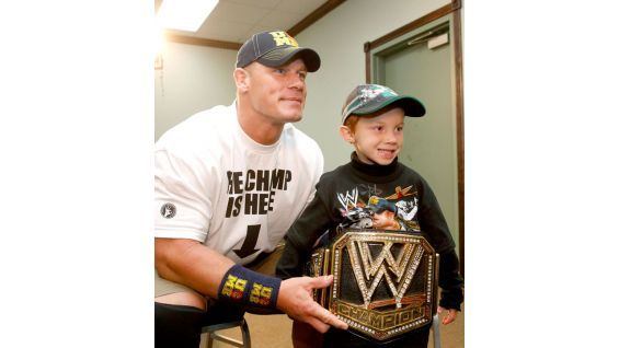 Isaiah is 6 years old and from Make-A-Wish. #WWE