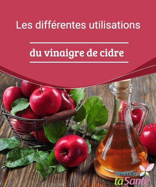Les différentes utilisations du vinaigre de cidre  Connaissez-vous les différentes utilisations du vinaigre de cidre ? Certaines de ses propriétés et applications pourraient bien vous surprendre !