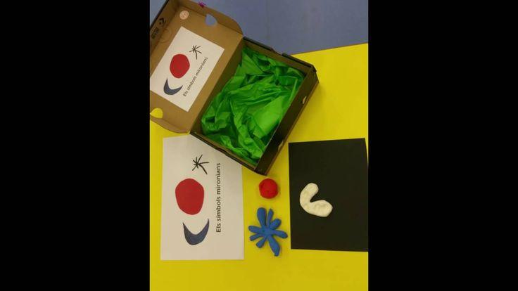 ELS SIMBOLS DE MIRÓ - PROJECTE MIRÓ - Material: caixa, paper, pasta de modelar -  INF P3 2015-16 Escola Pia Balmes