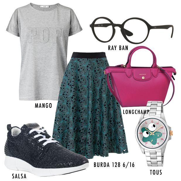 Relax total mas sempre cheia de estilo! É esta a proposta da blogger STAY GOLD by JV esta semana! A saia é da edição de junho da burda style, já à venda no teu quiosque!