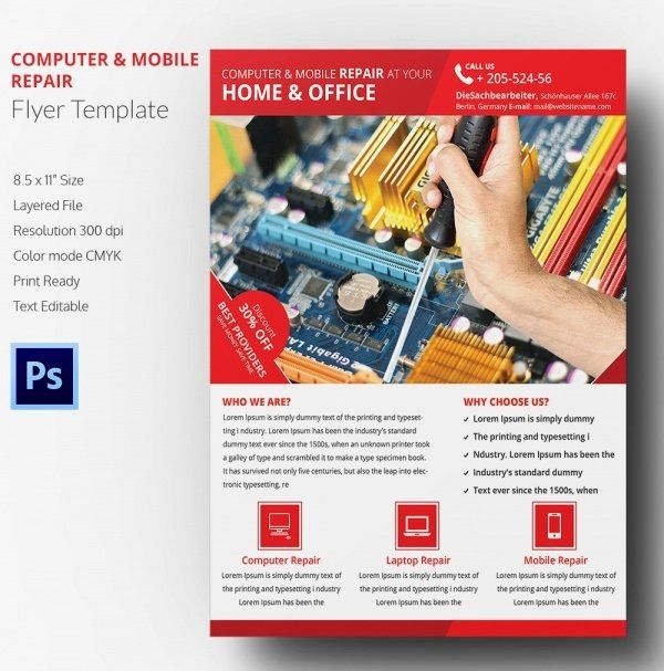 Computer Repair Flyer Template Unique Puter Repair Flyer Template 21 Free Psd Ai Format Flyer Template Flyer Flyer Design Templates