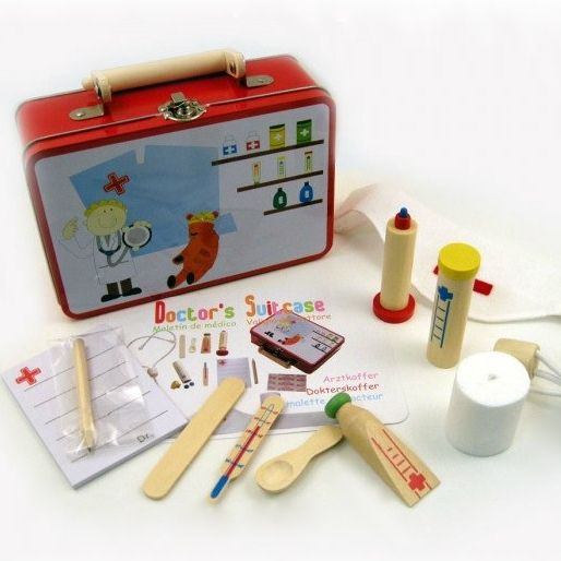 Doctor play set in tin case - hardtofind.