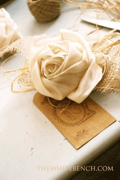 DIY:: Vintage Ribbon Rose Tutorial.