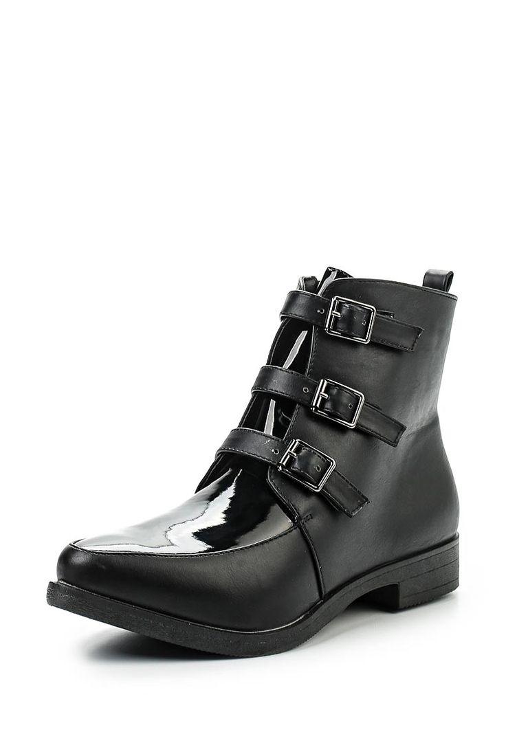 Ботинки Exquily выполнены из искусственной кожи. Детали: застежка на молнию, текстильная внутренняя отделка, плоская подошва, каблук.