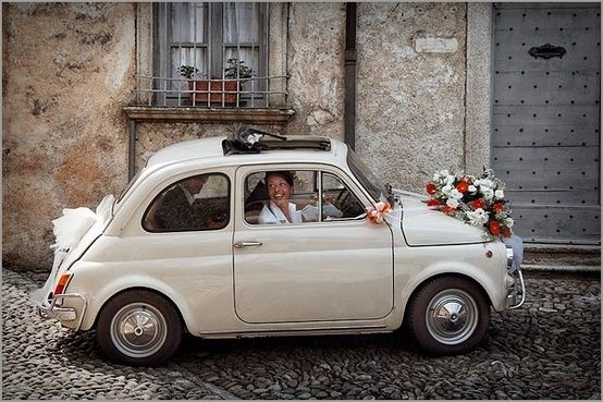Fiat 500 - a great car to get married in!