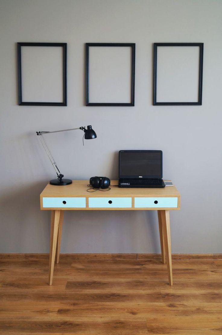 Desk ,computer desk,office desk,scandinavian style by PracowniaEMBE on Etsy