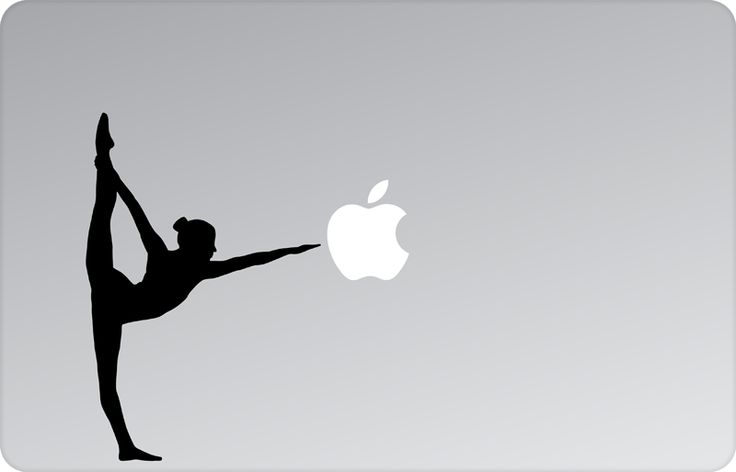Standing Bow Pose Apple Decal by #skinsutra  #yoga #halasana #asana #yogadesign #indian #vinyldecal #vinaldesign #vinyl #appledesign #macbook #macbookdecal #appledecal #macbookskin #appleskin #laptopskin