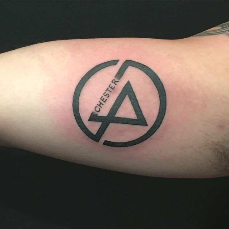 Our last tattoo of the day commemorates a very sad day in music. R.I.P. Chester Bennington. You…