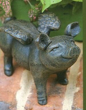 Flying Pig For A Garden Wall