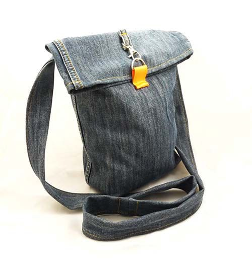 Recycled Jeans Messenger Cross Body Bag by DzikaSztuka on Etsy, $24.00