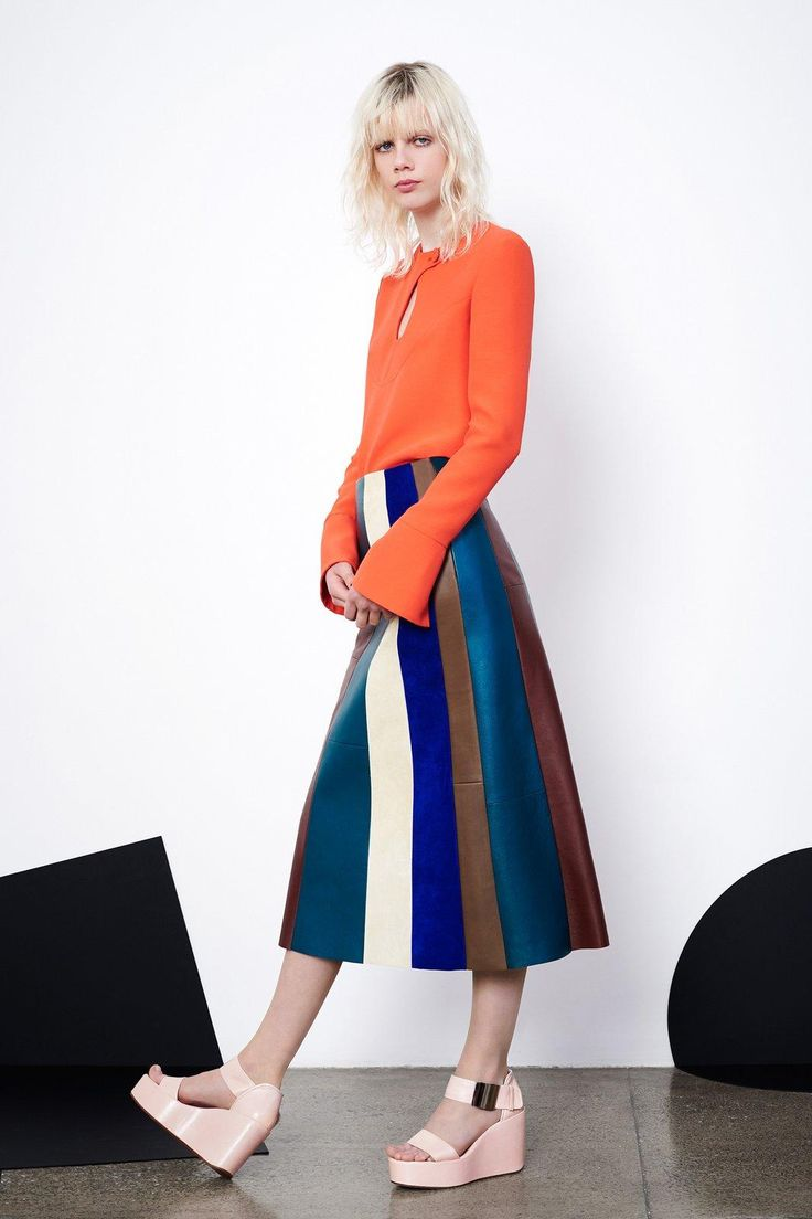 Colorful, swingy, fun–the perfect outfit straight from Derek Lam's newest runway collection