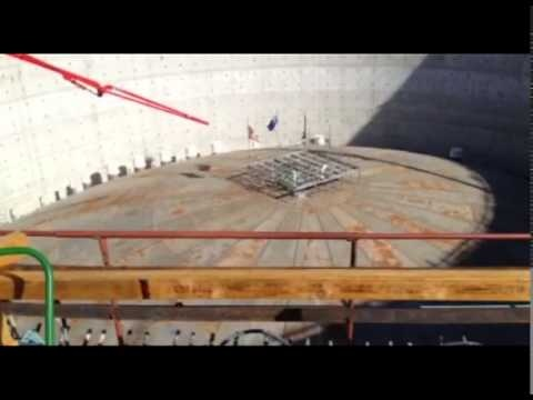 BG Group's QCLNG project LNG tank roof raise