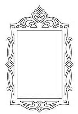 Sizzix Dies Fancy Rectangle Frame Die 658948 Wedding Frames Flourish Swirl