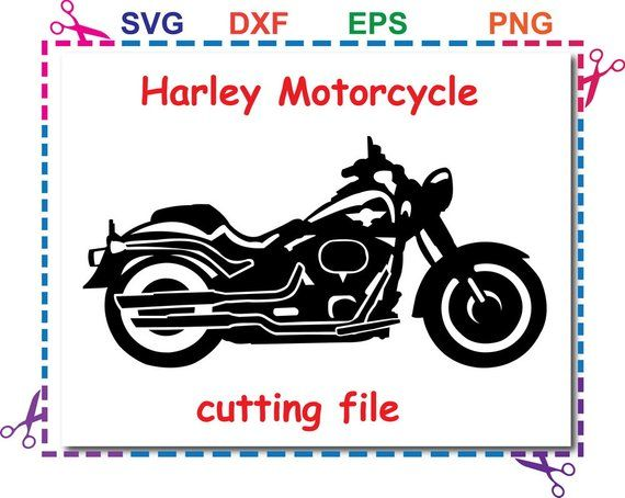 Harley Clipart Motorcycle Svg Eps Dxf Files For Silhouette Studio Cricut Design Space For Commercial Personal Use Instant Download
