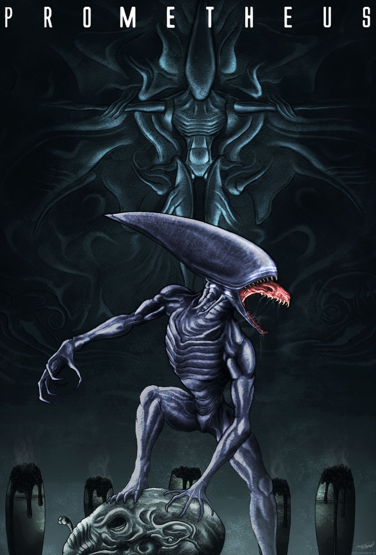 17 best images about prometheus aliens predator universe for Prometheus xenomorph mural