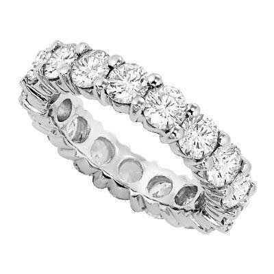 Mega diamonds!  Eternity wedding ring from Lieberfarb