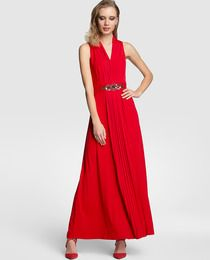 Vestido de mujer Fiesta El Corte Inglés largo en color rojo · Fiesta El Corte Inglés · Moda · El Corte Inglés