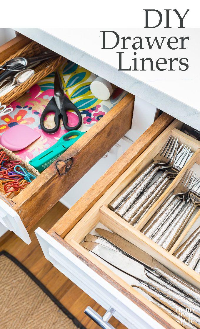 25+ einzigartige Diy drawer liners Ideen auf Pinterest - organisation kuchen schubladen
