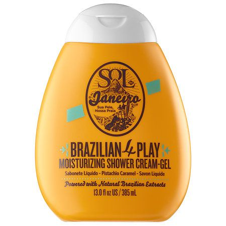 Shower Gel || Brazilian 4 Play Moisturizing Shower Cream-Gel- Creamy, Lathering Body Wash that Gently Nourishes & Cleanses the Skin