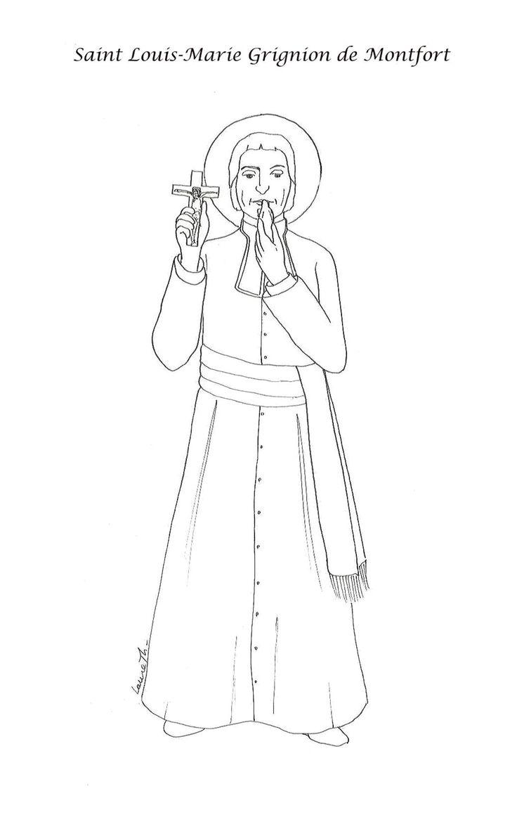 93 best saints coloring pages images on pinterest catholic