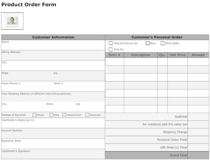 Best Simple Order Form Template Word Images On   Order