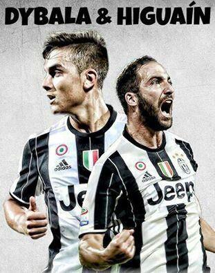 Higuain & Dybala. Juventus 16/17 home soccer jersey.