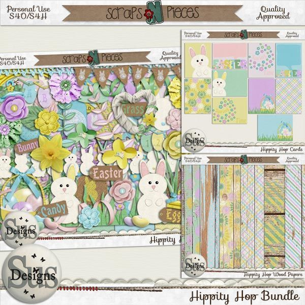 Hippity Hop Bundle #SusDesigns #DigiScrap #Scrapbook #ScrapsNPieces