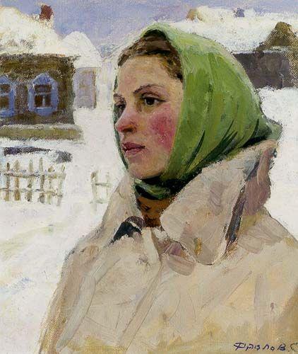 Russian Paintings Of Women Portrait of a W...