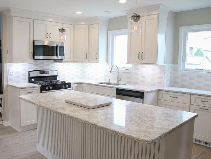 Kitchen Remodel In South Plainfield Nj Who Loves This Fabulous White And Grey Transformation Cozinha Planejada Cozinha