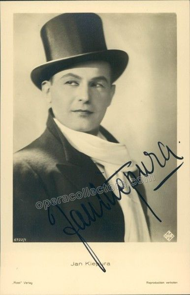 Polish tenor (1902-1966), signed photo postcard, shown as himself. Size is 3.5 x 5.5 inches.