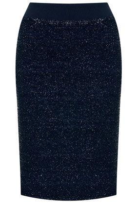Lurex Pencil Skirt
