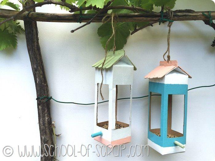 Guest post: come fare mangiatoie per uccellini riciclando i cartoni del latte - Alessia, scrap & craft...Alessia, scrap & craft…