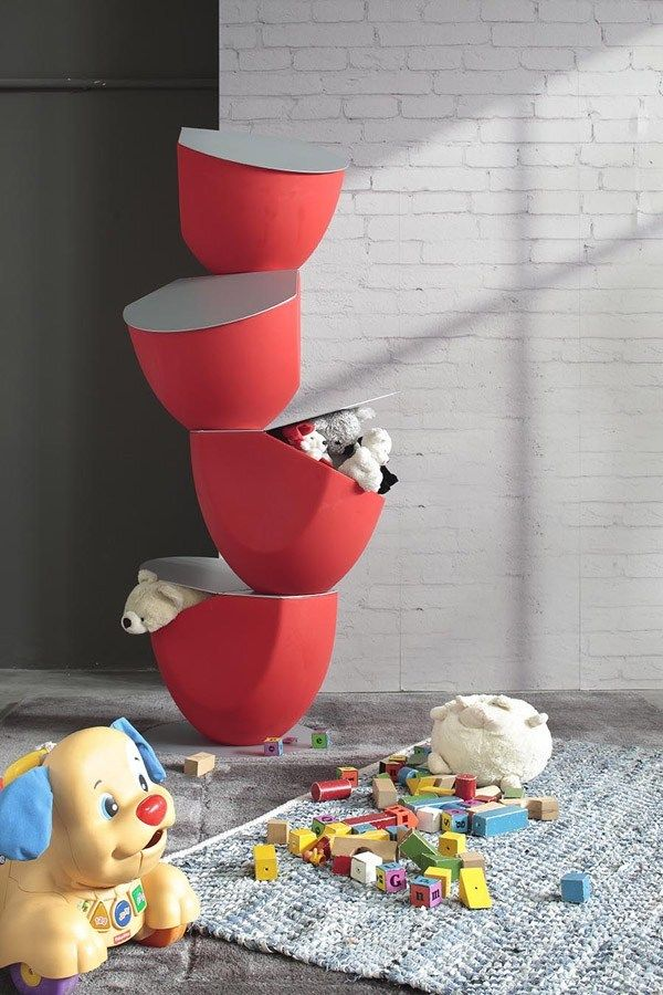 Ecovo storage box for kid's room by @rondadesignsrl | #design Diego Collareda
