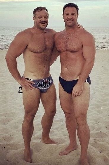 Two beefy men