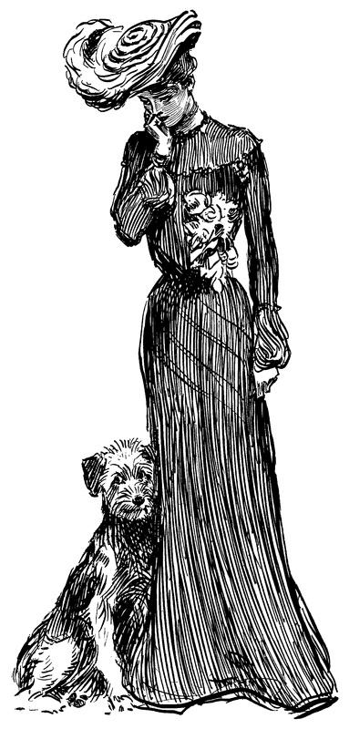 La Bande des Faineantes: Charles Dana Gibson - Dogs - Vintage Printable