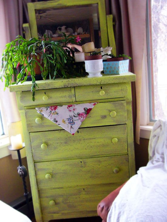I'm doing this to my antique dresser ASAP! I love the