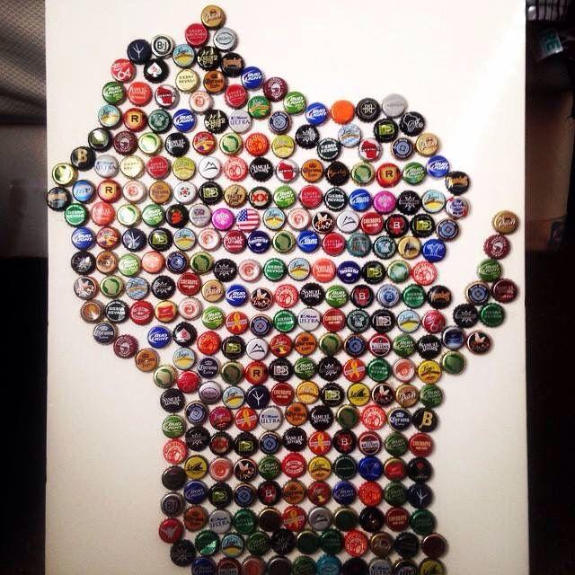 Wisconsin bottle cap project!