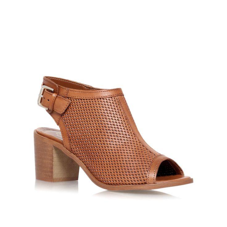 Carvela Audrey mid heel shoe boots, Tan