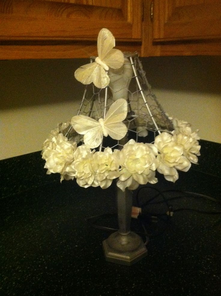 19 best wire lamp shade images on pinterest lampshades lamp chicken wire lampshade greentooth Image collections