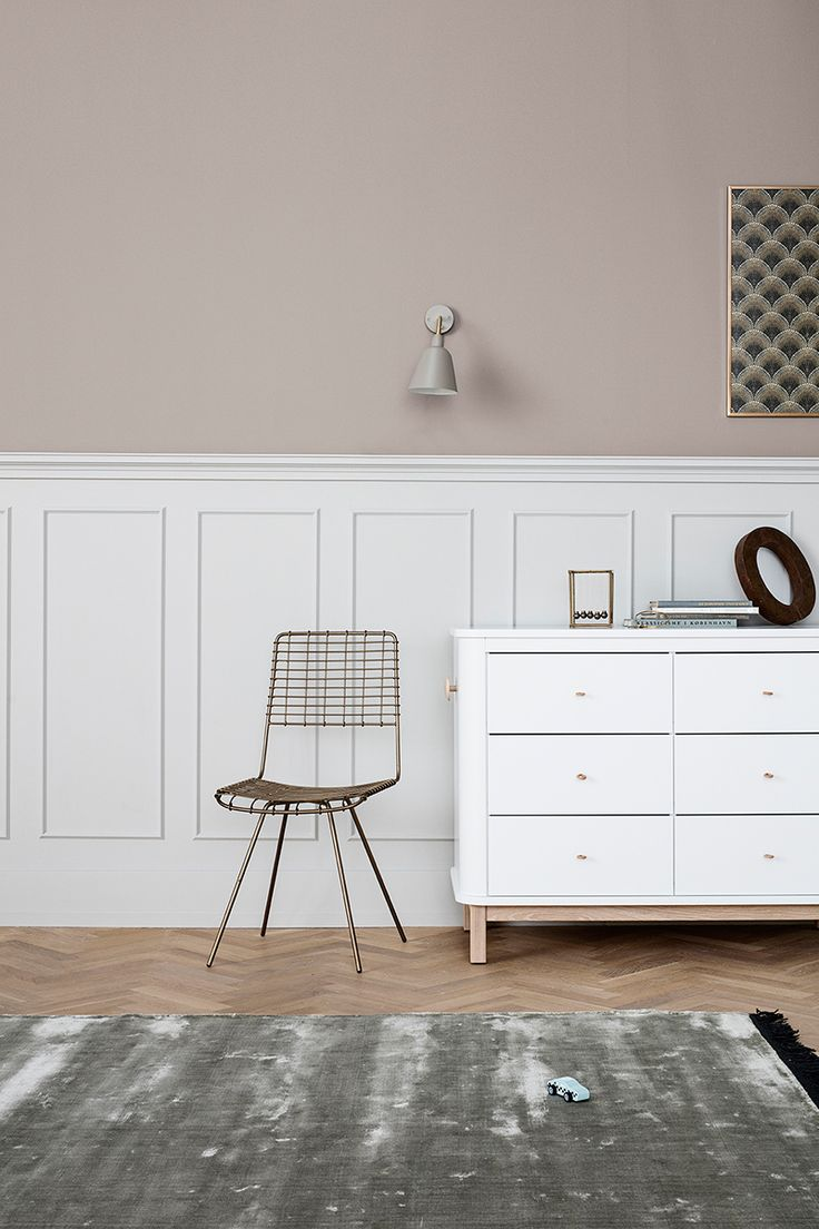 Wood Collection storage dresser w. 6 drawers by Oliver Furniture.