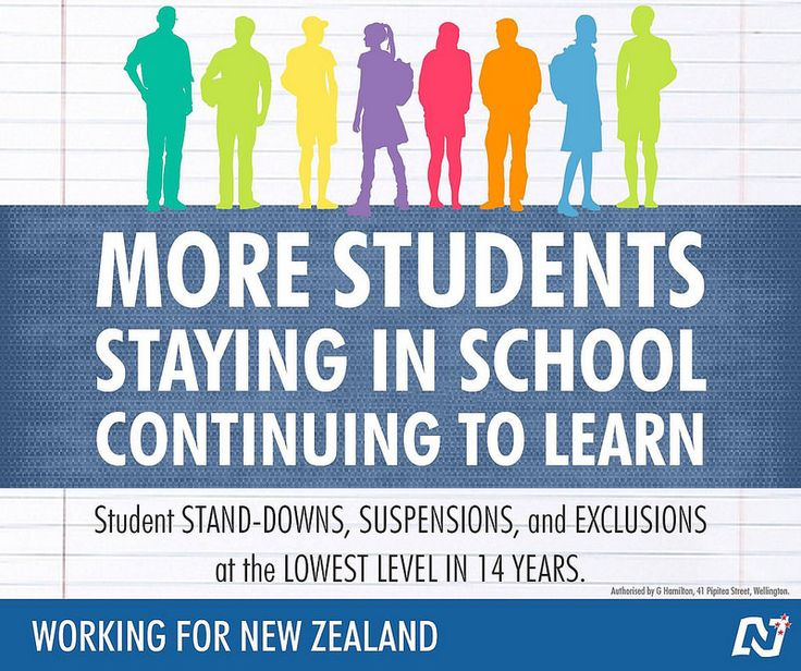 Our focus on supporting positive behaviour and giving schools the skills to deal with difficult behaviour is working. #Working4NZ http://ntnl.org.nz/1rz7s1f